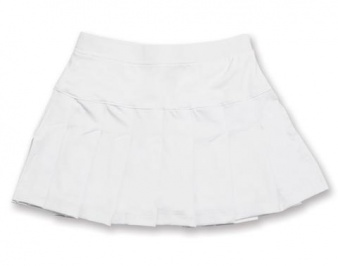 Girls white tennis skort