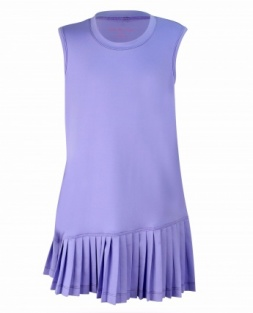 Girls fine pleated lavender dress