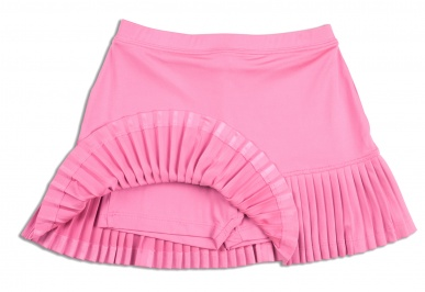 Girls fine-pleated pink tennis skort