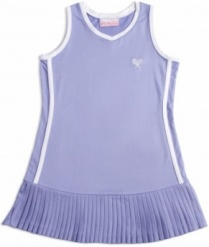 Girls lavender tennis dress with white trim