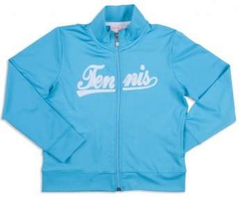 Girls twilight blue jacket with white TENNIS logo[1]